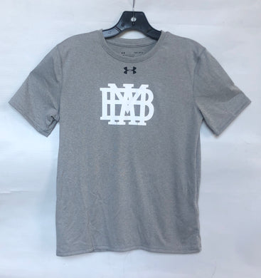 Under Armour YOUTH Gray Performance T-Shirt white MBA