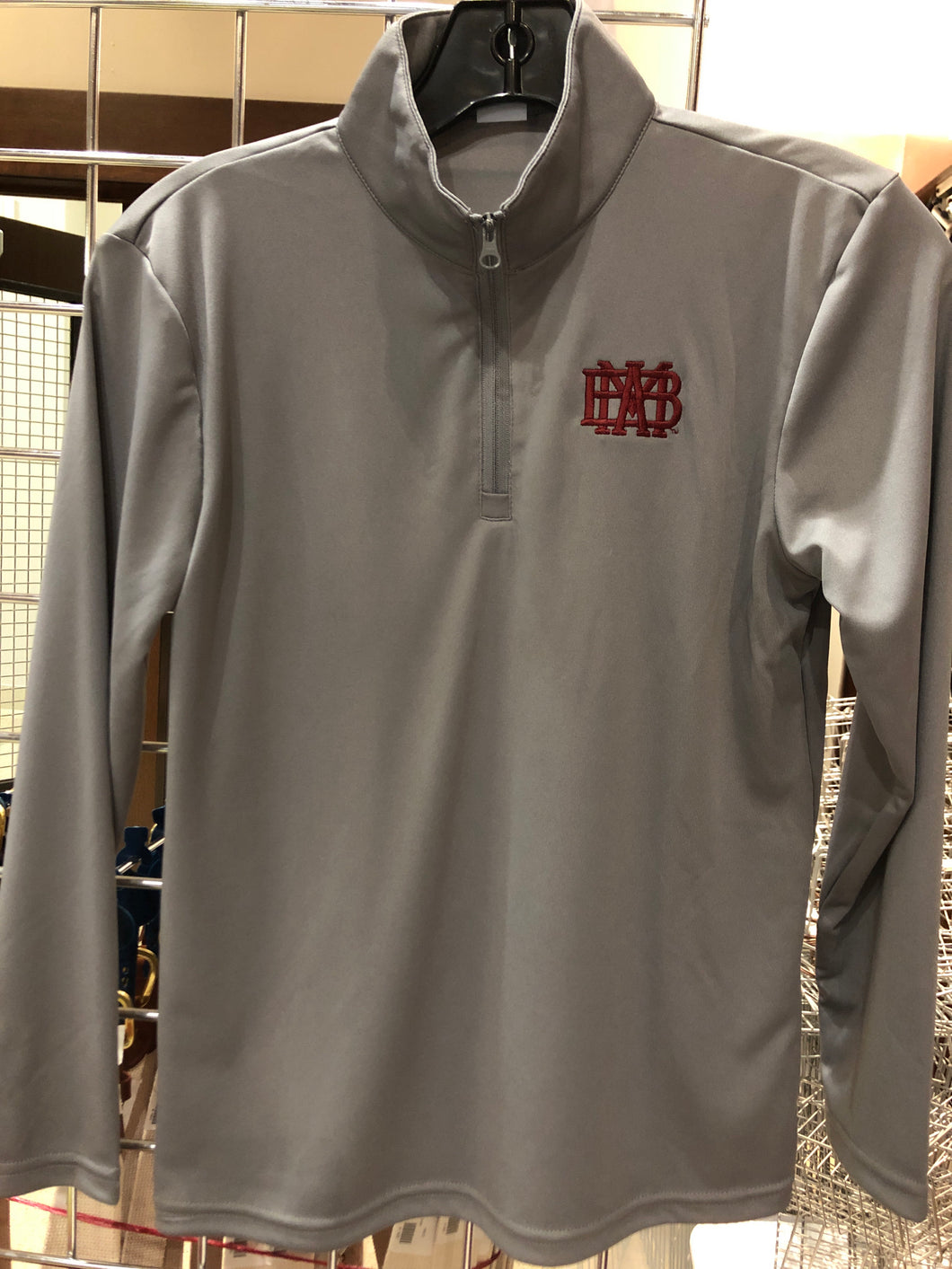 Grey Youth Sport-Tek Shirt with 1/4 Zip