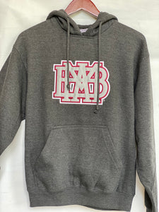 Pennant Adult/Youth Charcoal Hoodie Sweatshirt with Applique Logo