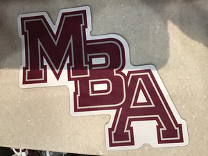 Diagonal MBA Car Magnet