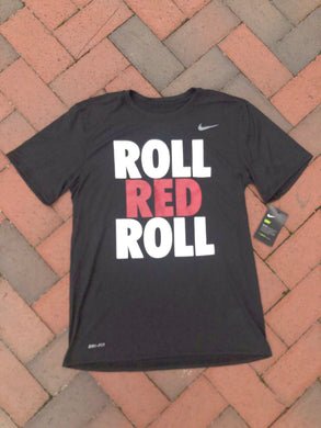 Nike Black Short Sleeve Performance T-Shirt ROLL RED ROLL