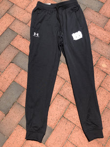 ARRIVED!!!  Under Armour Black Joggers White MBA logo Adult