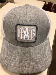 Grey Trucker Hat with Waffle Patch