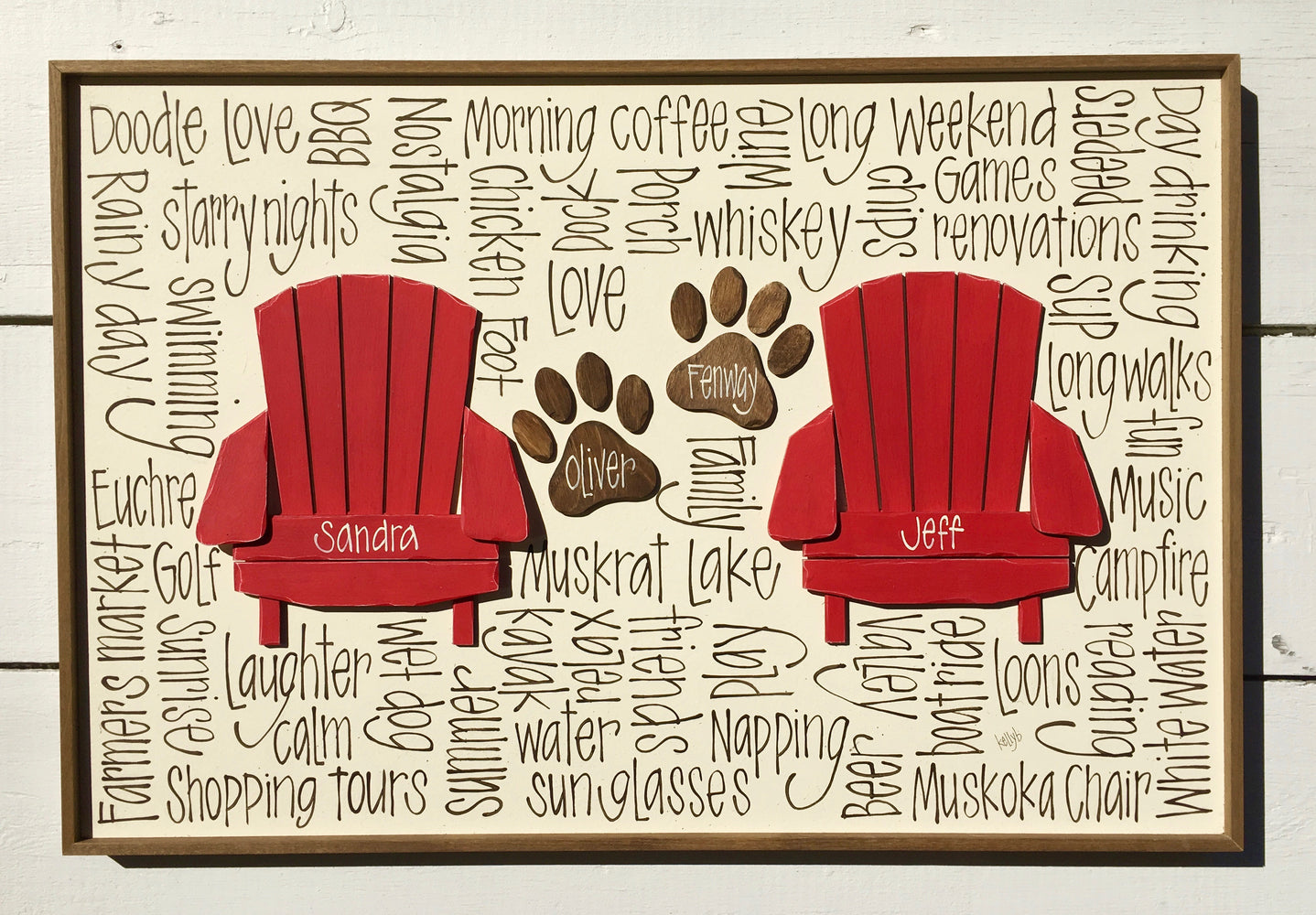 Double Chair & Paw Print