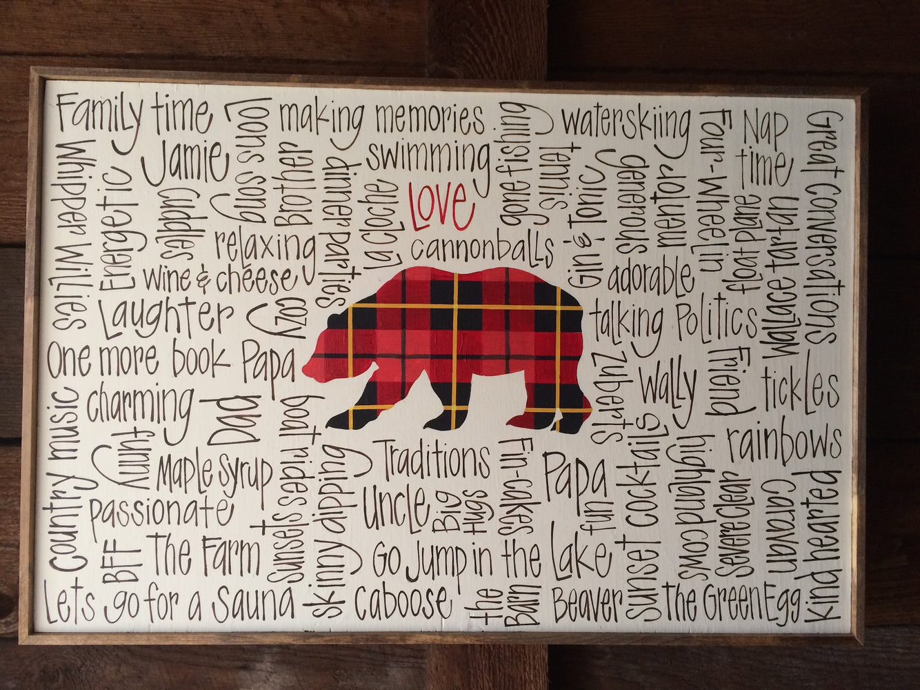 Plaid Cottage Bear