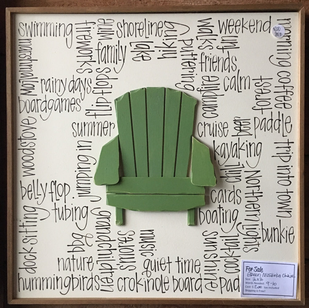 Simple Green Muskoka Chair - needs 10 Words