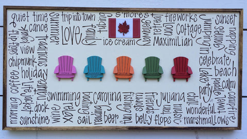 Sweet Muskoka Chair Row