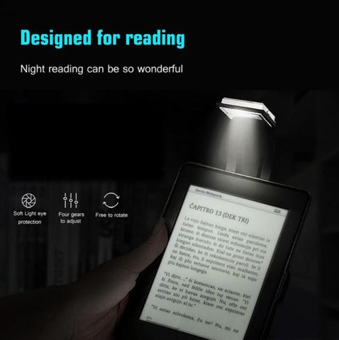 reading night light for bed clip on books
