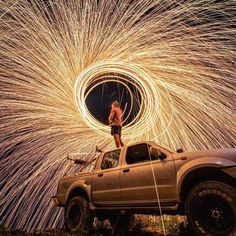steel wool photography light painting kit