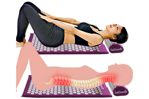 acupressure mat and pillow for stress relief chinese massage technique