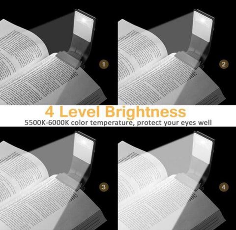 reading light for books with 4 levels of brightness