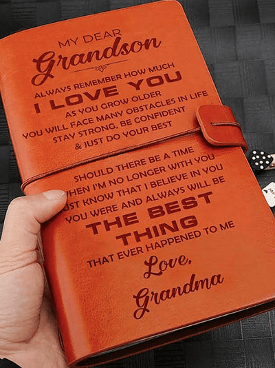 StructuredShop 211105 One Of A Kind Vintage Journal To Grandson, From Grandma