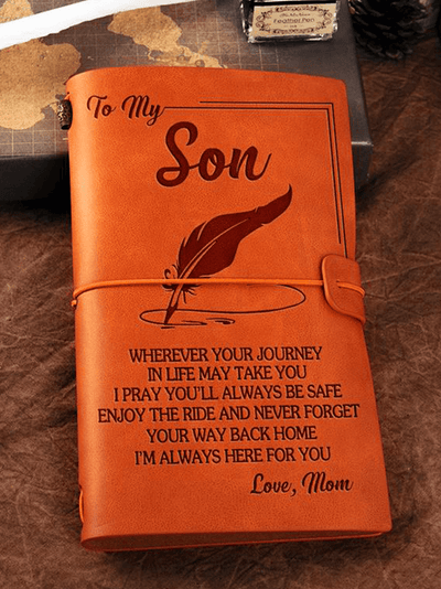 StructuredShop 211105 One Of A Kind Vintage Journal To Son, From Mom