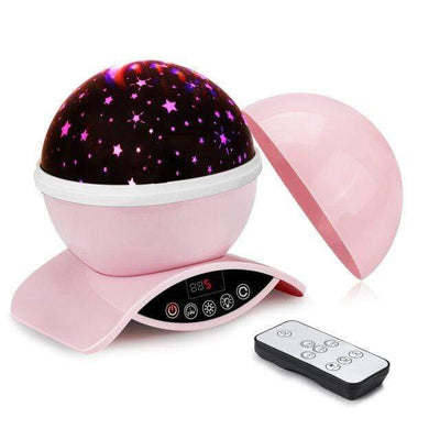 StructuredShop 39050508 Gifts for Kids Lightme Star Starry Sky LED Night Light Projector Moon Lamp Battery USB Bedroom Lamp Projection Lamp Pink / China