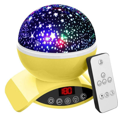 StructuredShop 39050508 Gifts for Kids Lightme Star Starry Sky LED Night Light Projector Moon Lamp Battery USB Bedroom Lamp Projection Lamp Yellow / China