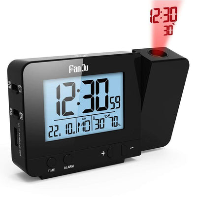 StructuredShop alarm clock PROJECTION SMART ALARM CLOCK (D1) Black