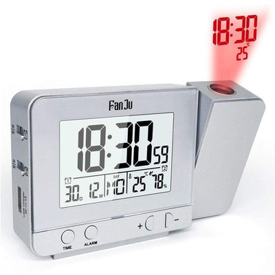 StructuredShop alarm clock PROJECTION SMART ALARM CLOCK (D1) Silver