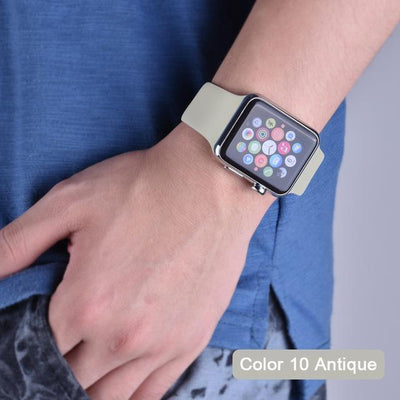 StructuredShop apple watch bands Apple Watch™️ Genuine Silicone Bands Antique / 42/44MM