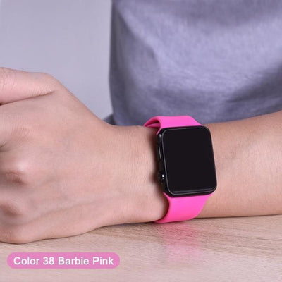StructuredShop apple watch bands Apple Watch™️ Genuine Silicone Bands Barbie-Pink / 42/44MM
