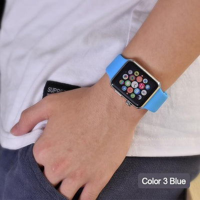 StructuredShop apple watch bands Apple Watch™️ Genuine Silicone Bands Blue / 42/44MM