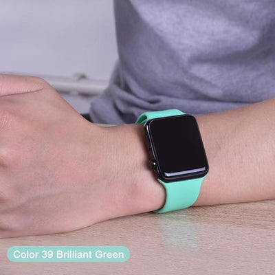 StructuredShop apple watch bands Apple Watch™️ Genuine Silicone Bands Brilliant-Green / 42/44MM