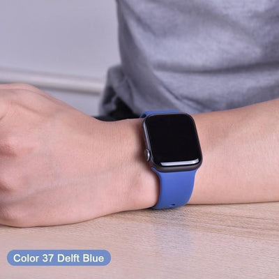 StructuredShop apple watch bands Apple Watch™️ Genuine Silicone Bands Delft-Blue / 42/44MM