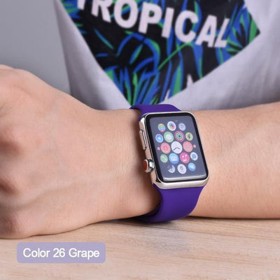 StructuredShop apple watch bands Apple Watch™️ Genuine Silicone Bands Grape / 42/44MM