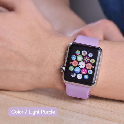 StructuredShop apple watch bands Apple Watch™️ Genuine Silicone Bands Light-Purple / 42/44MM