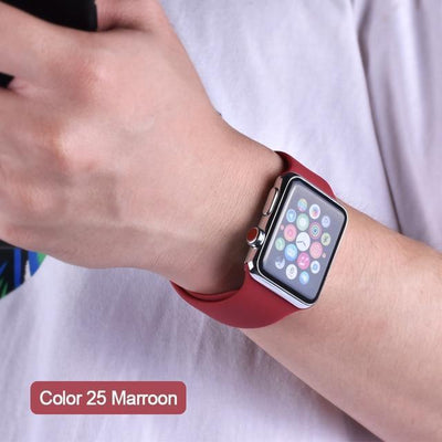 StructuredShop apple watch bands Apple Watch™️ Genuine Silicone Bands Marroon / 42/44MM
