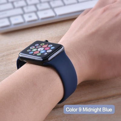 StructuredShop apple watch bands Apple Watch™️ Genuine Silicone Bands Midnight-Blue / 42/44MM