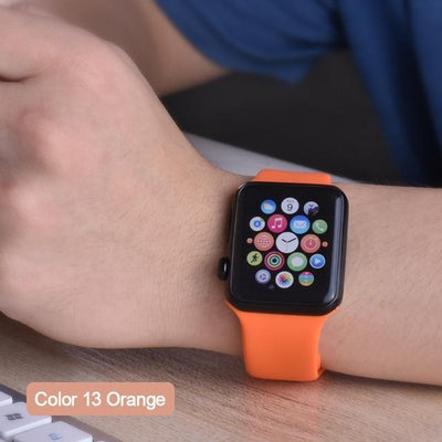 StructuredShop apple watch bands Apple Watch™️ Genuine Silicone Bands Orange / 42/44MM