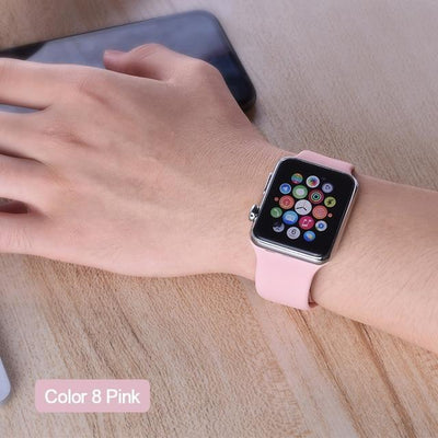StructuredShop apple watch bands Apple Watch™️ Genuine Silicone Bands Pink / 42/44MM