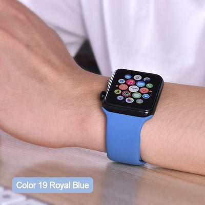 StructuredShop apple watch bands Apple Watch™️ Genuine Silicone Bands Royal-Blue / 42/44MM