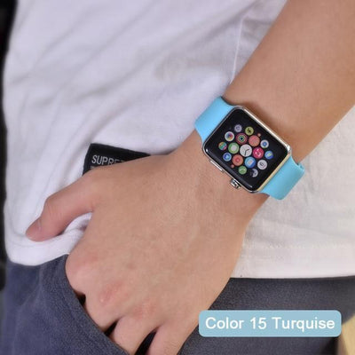 StructuredShop apple watch bands Apple Watch™️ Genuine Silicone Bands Turquise / 42/44MM
