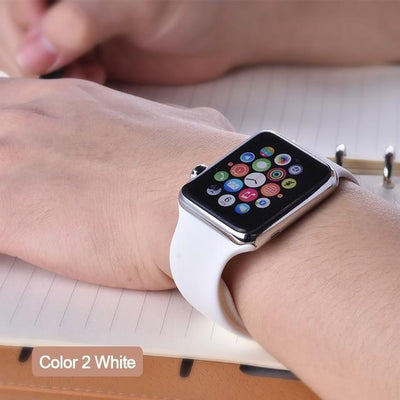StructuredShop apple watch bands Apple Watch™️ Genuine Silicone Bands White / 42/44MM