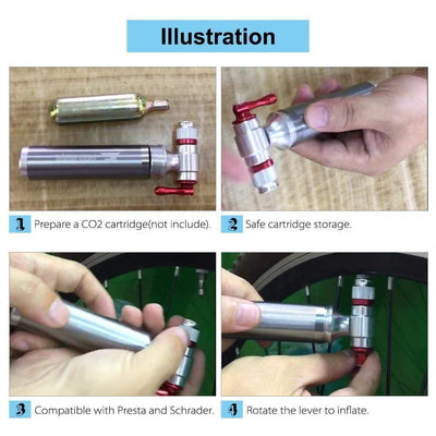 StructuredShop bicycle BICYCLE CO2 TIRE INFLATOR