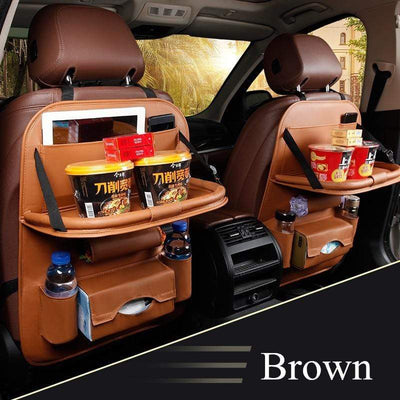 StructuredShop car organizer Premium All-In-One Car Organizer Brown