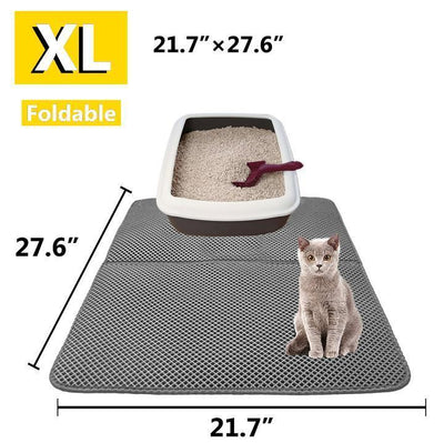 StructuredShop cats LitterTrapper™ - Double Layer Cat Litter Mat Black / Extra Large