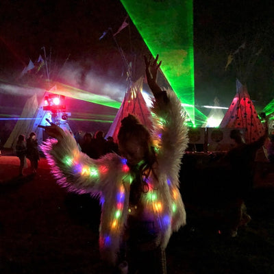 StructuredShop festival clothing & accessories FLUFFY LED JACKET