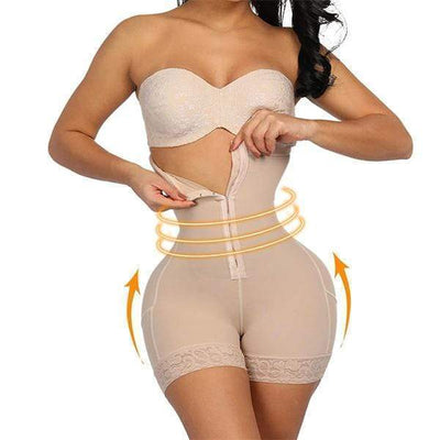StructuredShop HIGH-WAIST BODY SHAPER - TUMMY CONTROL SHAPEWEAR (U1) Beige / S