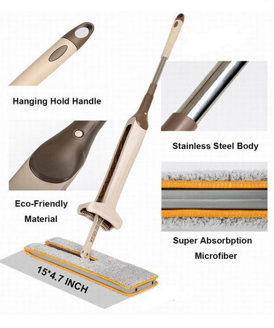 StructuredShop home cleaning SwivelMop™ - The Self-Wringing Double Sided Mop