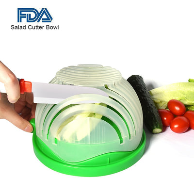 StructuredShop kitchen Easy Salad And Fruit Cutter