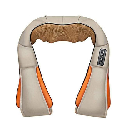 StructuredShop massage HEATED ELECTRIC NECK MASSAGER (D1) Beige / UK plug