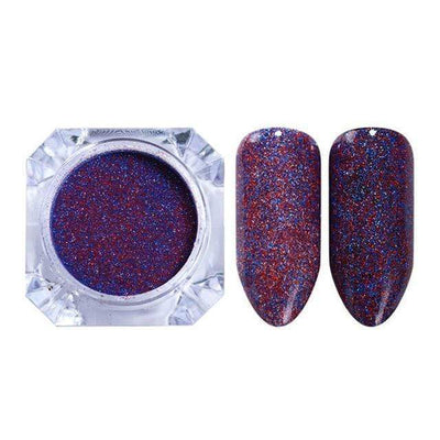 StructuredShop nails PREMIUM HOLO GLITTER NAIL POWDER Blackberry HOLO 0.5g