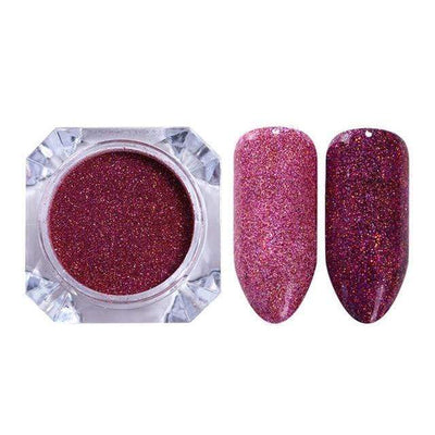 StructuredShop nails PREMIUM HOLO GLITTER NAIL POWDER Cherry HOLO 0.5g