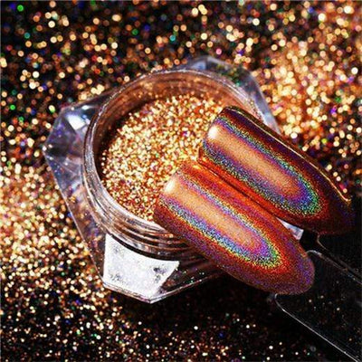 StructuredShop nails PREMIUM HOLO GLITTER NAIL POWDER Gold HOLO 0.5g
