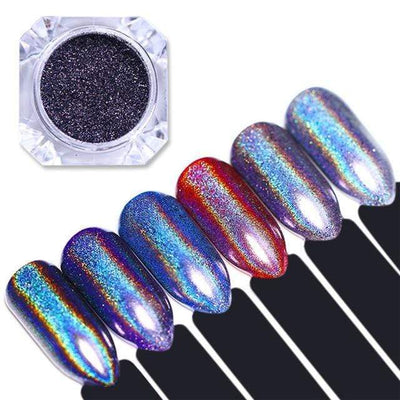 StructuredShop nails PREMIUM HOLO GLITTER NAIL POWDER Multicolor Base 0.5g
