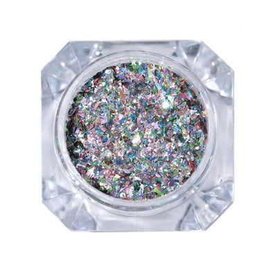 StructuredShop nails PREMIUM HOLO GLITTER NAIL POWDER White Diamonds 1g