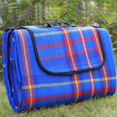 StructuredShop picnic Waterproof Foldable Picnic Blanket Blue / 150x80cm / 59x31inch