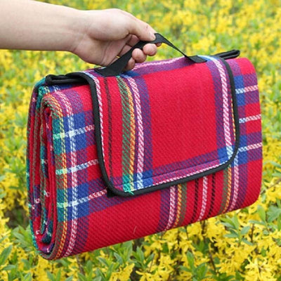 StructuredShop picnic Waterproof Foldable Picnic Blanket Red / 150x80cm / 59x31inch